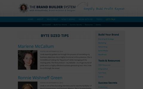 Screenshot of Testimonials Page virtuallinda.com - Testimonials :: THE BRAND BUILDER SYSTEM with Virtuallinda - captured Oct. 26, 2014