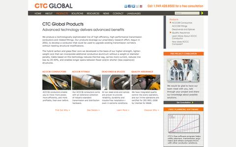 Screenshot of Products Page ctcglobal.com - Products | CTC GLOBAL - captured Sept. 26, 2014