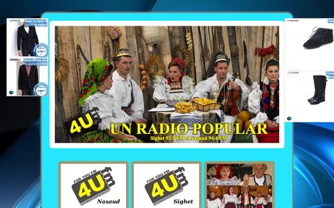 Screenshot of Home Page 4ufm.ro - For You FM - captured Oct. 5, 2014