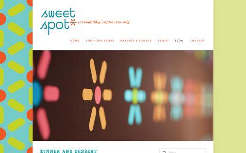 Screenshot of Blog shopsweetspot.com - Blog — Sweet Spot - captured Oct. 7, 2014