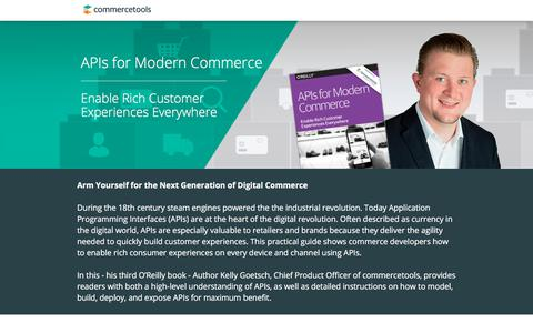 Screenshot of Landing Page commercetools.com - APIs for Modern Commerce - captured Oct. 29, 2017
