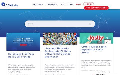 Screenshot of Blog cdnfinder.com - Blog – CDN Finder | Content Delivery Network - captured June 10, 2017