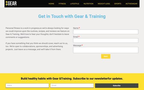 Screenshot of Contact Page gearandtraining.com - Contact Us   Gear & Training - captured Nov. 4, 2018