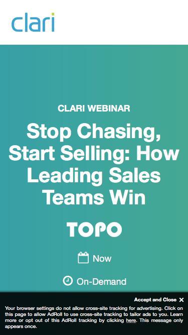 Webinar: Stop Chasing, Start Selling: How Leading Sales Teams Win