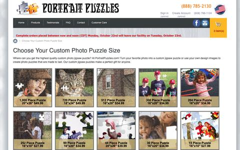 Screenshot of Products Page portraitpuzzles.com - Custom photo puzzle - captured Oct. 19, 2018