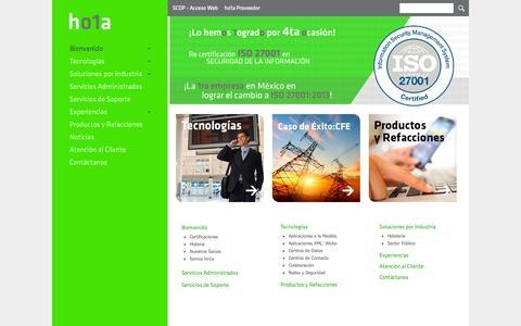 Screenshot of Home Page ho1a.com - Inicio - ho1a - captured Sept. 30, 2014