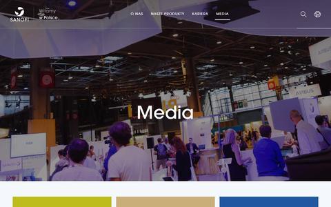 Screenshot of Press Page sanofi.pl - Media - Sanofi w Polsce - captured Nov. 23, 2018
