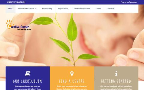 Screenshot of Locations Page creativegarden.com.au - Creative Garden Early Learning Centre - captured Oct. 3, 2014