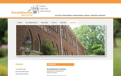 Screenshot of Contact Page karmelklooster.nl - Karmelklooster - Contact - captured Oct. 15, 2018