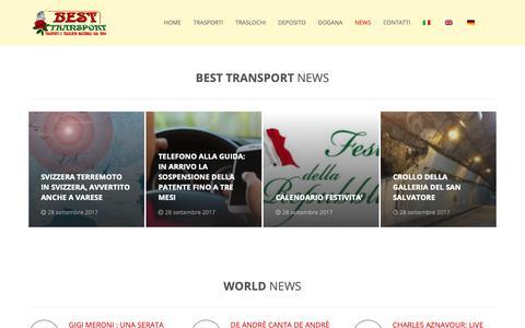 Screenshot of Press Page best-transport.it - News - Best Transport - captured Nov. 13, 2018