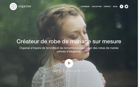 Screenshot of Home Page organse.com - Robe de mariée à Paris: Découvrez notre boutique – Organse - captured Oct. 16, 2015