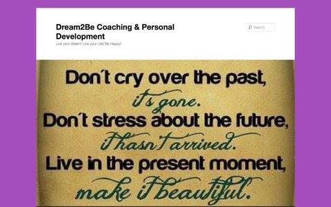 Screenshot of Blog dream2becoaching.com - Blog - Dream2Be Coaching & Personal Development - captured Oct. 5, 2014