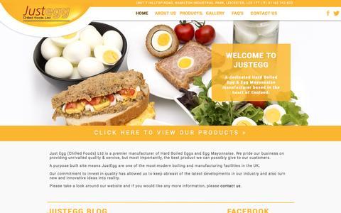Screenshot of Home Page justegg.co.uk - JustEgg | Hard Boiled Egg & Egg Mayonnaise Supplier in the UK - captured Nov. 27, 2016