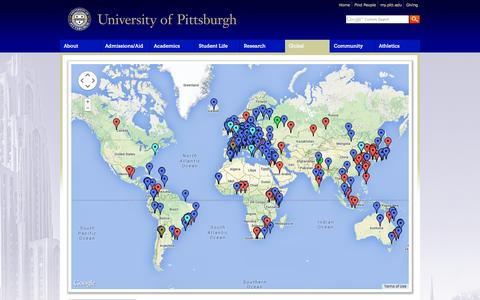 Screenshot of Maps & Directions Page pitt.edu - Map | University of Pittsburgh - captured Sept. 13, 2014