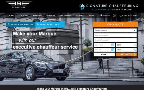 Screenshot of Site Map Page signaturechauffeuring.co.uk - Sitemap - Make Your Way Easy To Signature Chauffeuring Website - captured Dec. 6, 2016