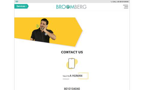 Screenshot of Contact Page broomberg.in - How to Contact Broomberg Cleaning Services Pvt Ltd - captured July 1, 2017
