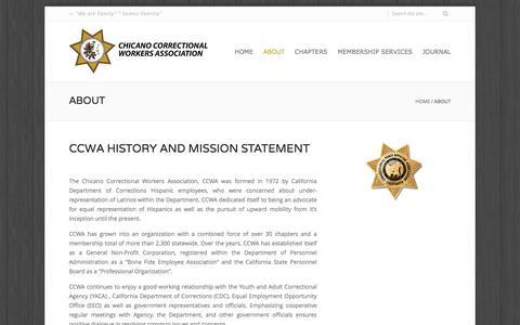 Screenshot of About Page ccwa.net - About | CCWA - captured June 14, 2016