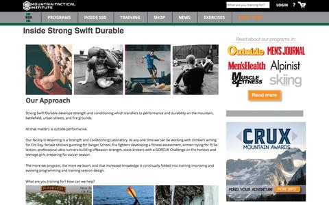 Screenshot of About Page strongswiftdurable.com - Inside Strong Swift Durable - captured April 3, 2016