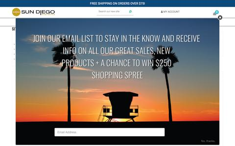 Screenshot of Site Map Page sundiego.com - Sitemap - Sun Diego Boardshop - captured Sept. 25, 2018