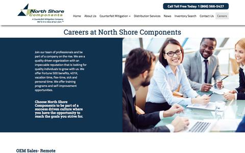Screenshot of Jobs Page nscomponents.com - Careers | North Shore Components - captured Nov. 30, 2016