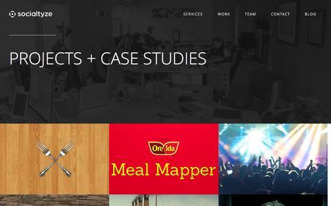 Screenshot of Case Studies Page socialtyze.com - Socialtyze: Case Studies - captured July 3, 2015