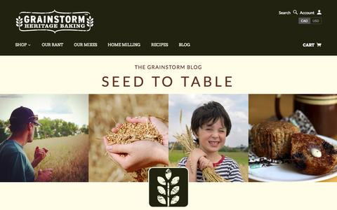 Screenshot of Blog grainstorm.com - Seed to Table Blog | GRAINSTORM - captured Nov. 2, 2014