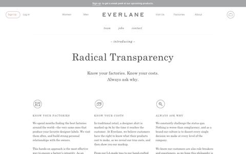 About | Everlane