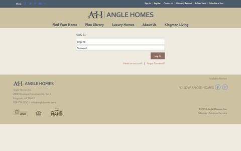 Screenshot of Login Page anglehomes.com - Sign In - captured Dec. 9, 2018