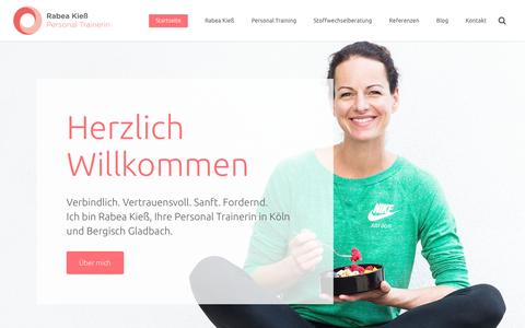 Screenshot of Home Page personal-trainer-koeln.de - Personal Training Rabea Kieß - Ihre Personal Trainerin in Köln - captured April 1, 2017