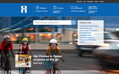 Screenshot of Home Page hennepin.us - Hennepin County   Hennepin County - captured Sept. 19, 2014