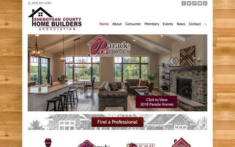 Screenshot of Home Page schba.org - Find Builders, Contractors, Carpenters, Architects, Landscapers - captured Oct. 19, 2018