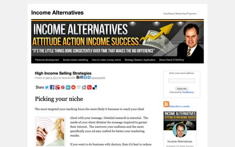 Income Alternatives | Coaching & Mentoring Programs