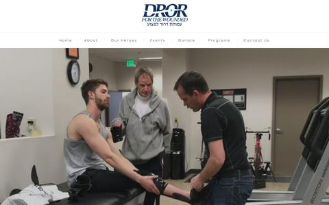 Screenshot of Home Page drorfoundation.org - Dror For The Wounded - captured Sept. 25, 2018