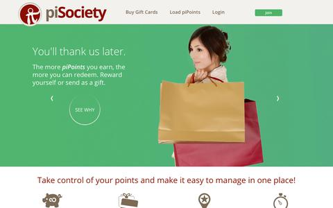 Screenshot of Home Page pisociety.com - piSociety - captured Nov. 1, 2017