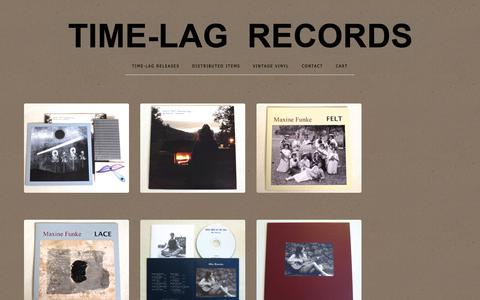 Screenshot of Home Page time-lagrecords.com - Home / TIME-LAG RECORDS - captured Oct. 30, 2018