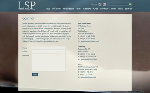 Screenshot of Contact Page lspvc.com - CONTACT - captured Sept. 28, 2018
