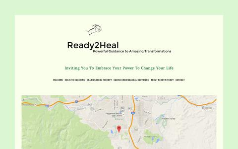 Screenshot of Maps & Directions Page ready2heal.net - Directions CranioSacral Therapy, Equine Craniosacral Bodywork and Life Coaching - captured Feb. 14, 2016