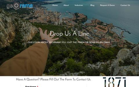 Screenshot of Contact Page georama.com - Contact Us - Georama - captured July 3, 2016