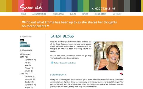 Screenshot of Blog seasonedevents.co.uk - Seasoned Blog, read the latest news and live updates – Seasoned - captured Oct. 27, 2014