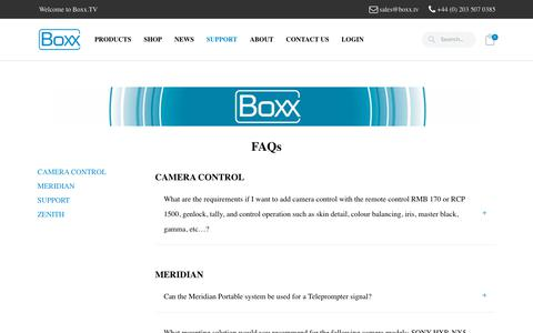 Screenshot of FAQ Page boxx.tv - FAQS – Boxx.TV - captured Oct. 5, 2018