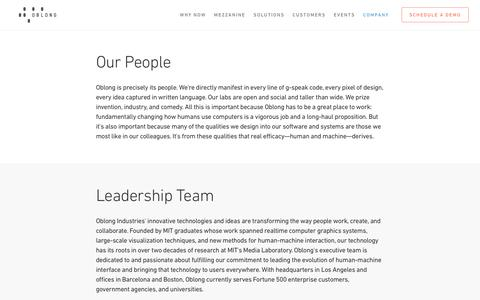Our People - oblong industries, inc.