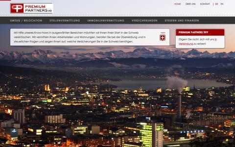 Screenshot of Home Page premium-p.com - Home > Premium Partners AG - captured Jan. 30, 2016