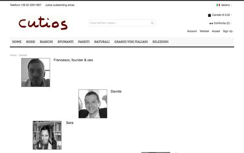 Screenshot of Team Page cutios.com - people - captured Sept. 30, 2014