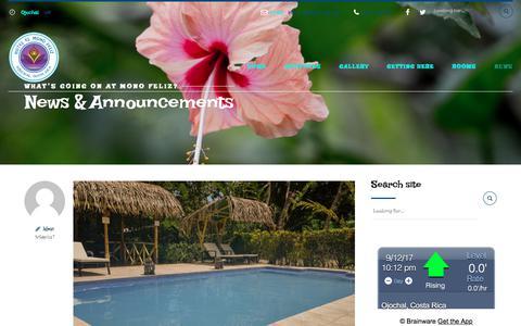 Screenshot of Press Page elmonofeliz.com - News – Hotel el Mono Feliz - captured Sept. 13, 2017