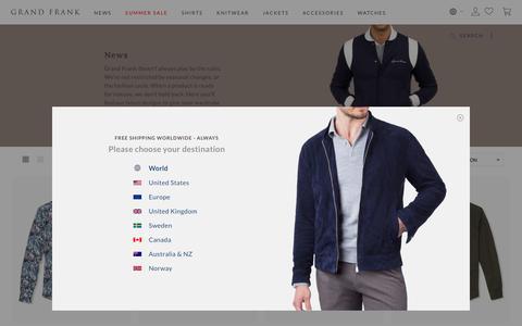 Screenshot of Press Page grandfrank.com - News - captured Aug. 3, 2018