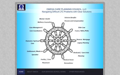 Screenshot of Home Page omegaseniorcare.org - Omega Senior Care Council - captured Feb. 14, 2016