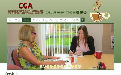 Screenshot of Services Page cga-york.co.uk - CGA York - Chartered Certified Accountants, York, UK - captured Aug. 12, 2015