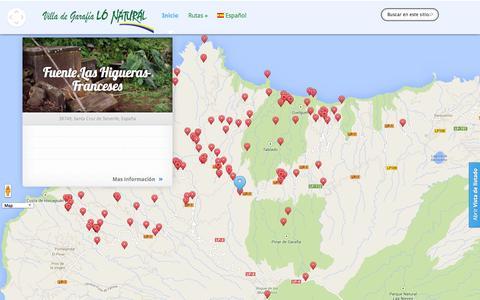 Screenshot of Home Page garafialonatural.es - Garafía Lo Natural. Explora la Villa de Garafía en la Isla de La Palma. Canarias   Otro sitio realizado con WordPress - captured Sept. 23, 2014