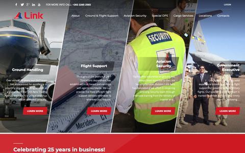 Screenshot of Home Page linkagency.com - Home - Link Aero Trading Agency - captured Sept. 28, 2018