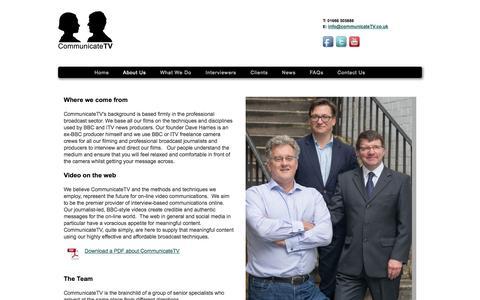 Screenshot of About Page communicatetv.co.uk - Communicate TV - captured Sept. 30, 2014